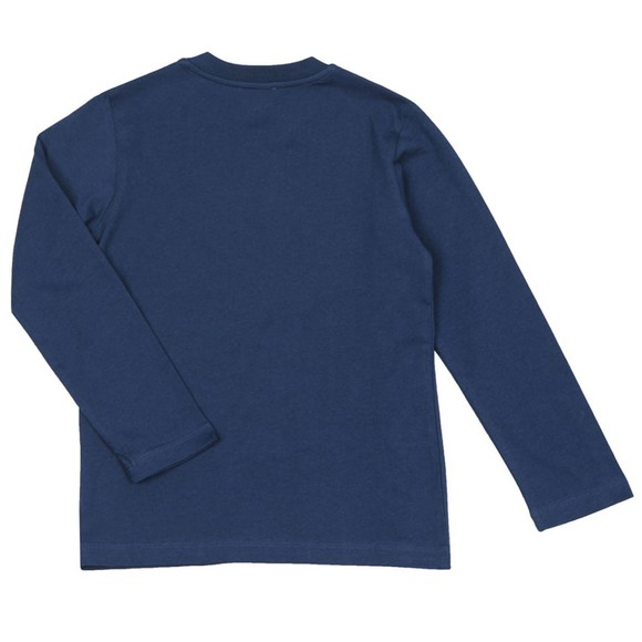 Lanvin Boys Blue Logo T-Shirt