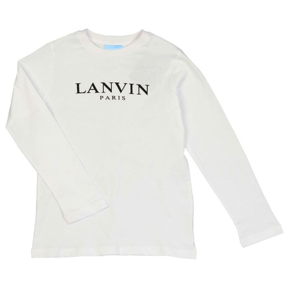 Lanvin Boys White Logo T Shirt