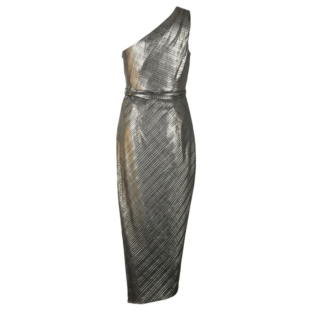 Gabria One Shoulder Drape Midi Dress main image