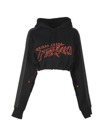 adidas Originals Womens Black X Fiorucci Adidas Loves Hoody