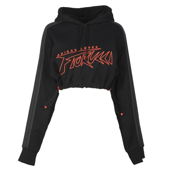 adidas Originals Womens Black X Fiorucci Adidas Loves Hoodie main image