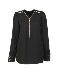 Holland Cooper Womens Black Zip Shirt