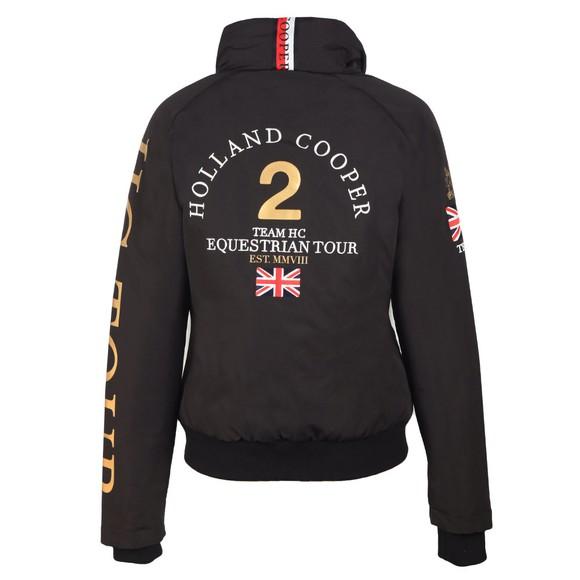 Holland Cooper Womens Black Equi Team Bomber Jacket main image