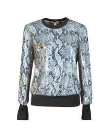 Ted Baker Womens Grey Millay Snake Sequin Sweatshirt
