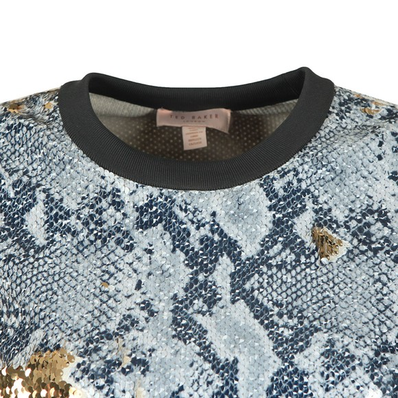 Ted Baker Womens Grey Millay Snake Sequin Sweatshirt main image