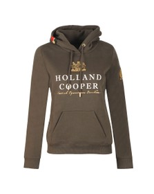 Holland Cooper Womens Green Sportswear Luxe Text Hoodie