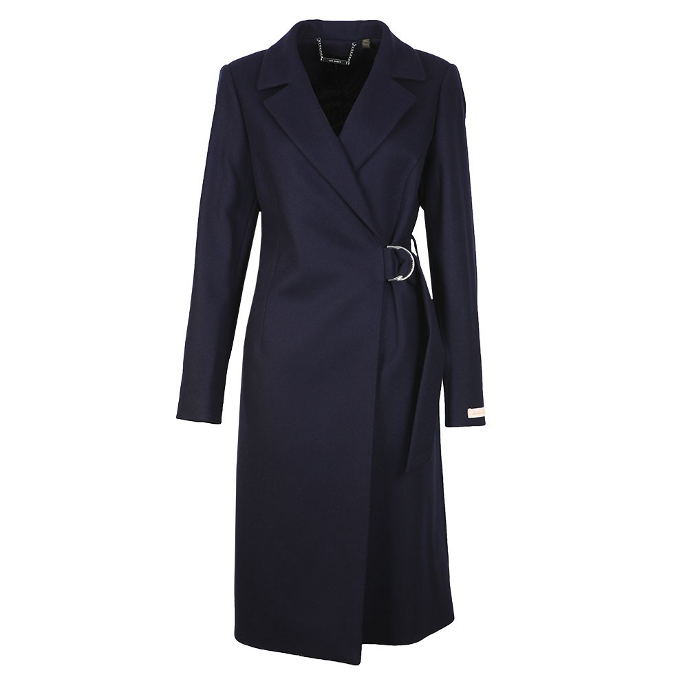 Dezpina Ring Long Wrap Coat main image