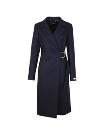 Ted Baker Womens Blue Dezpina Ring Long Wrap Coat
