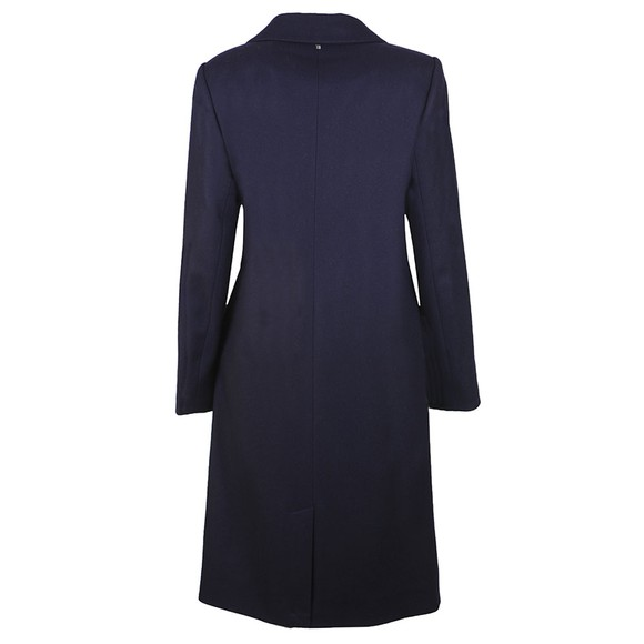 Ted Baker Womens Blue Dezpina Ring Long Wrap Coat main image