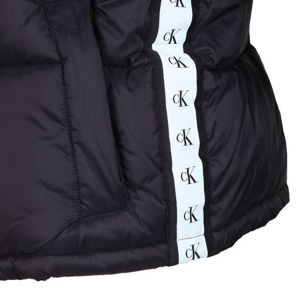 Calvin Klein Jeans Womens Black Monogram Tape Puffer Jacket main image