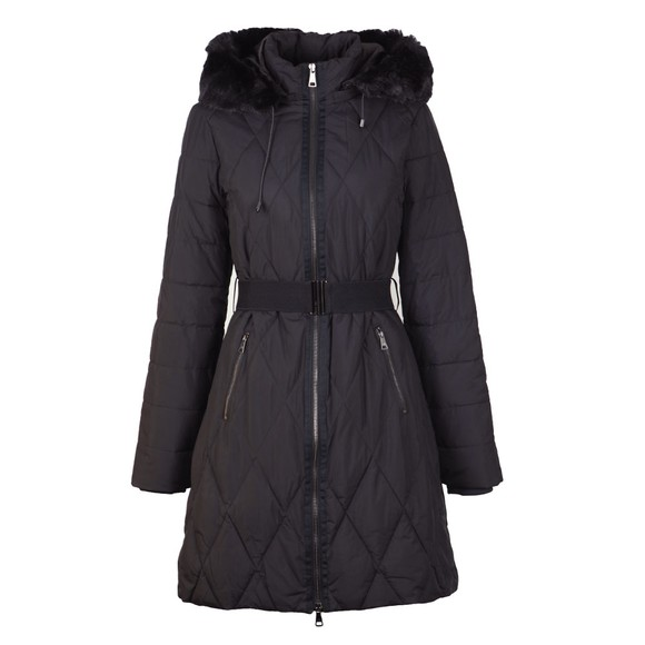 Ted Baker Womens Black Winiy Quilted Effect Padded Jacket main image