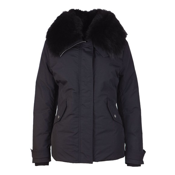 Belstaff Womens Black Petrel Jacket With Fur Collar