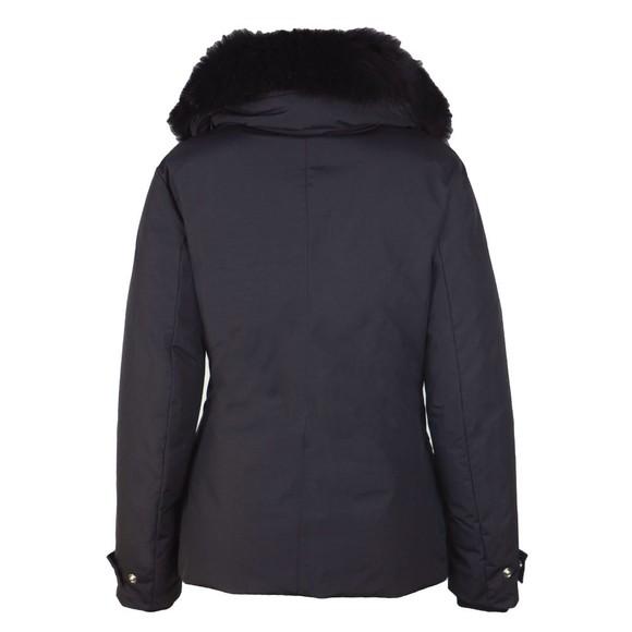 Belstaff Womens Black Petrel Jacket With Fur Collar main image