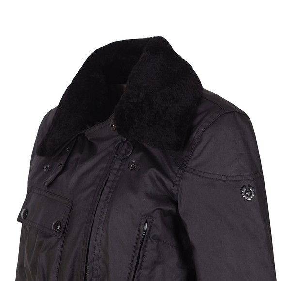Belstaff Womens Black Sammy Miller Jacket With Shearling Collar main image