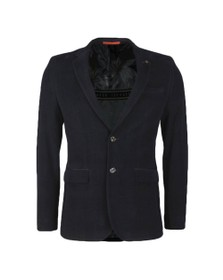 Ted Baker Mens Blue York Check Velvet Blazer