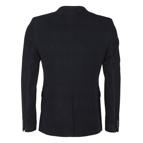 Ted Baker Mens Blue York Check Velvet Blazer main image