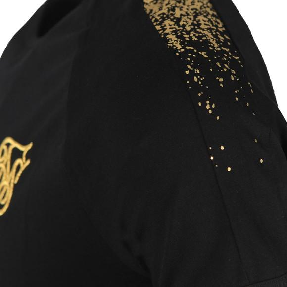 Sik Silk Mens Black Raglan Foil Fade Tee main image