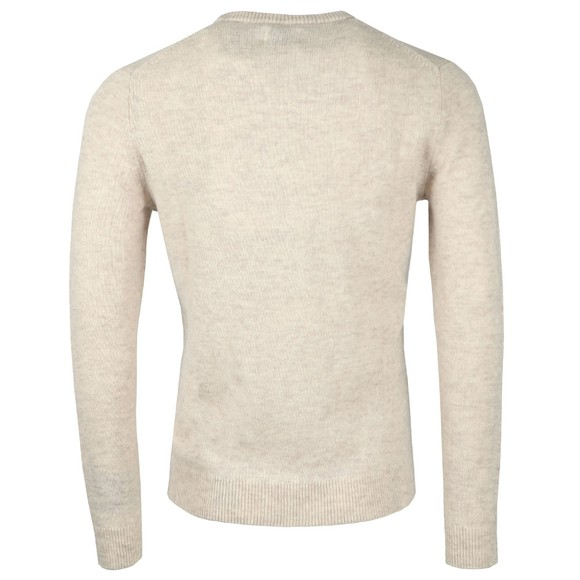 Farah Mens Beige Rosecroft Knitted Crew Jumper main image