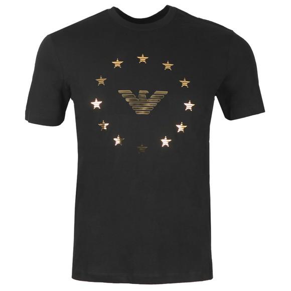 Emporio Armani Mens Black Eagle Circle Logo T Shirt