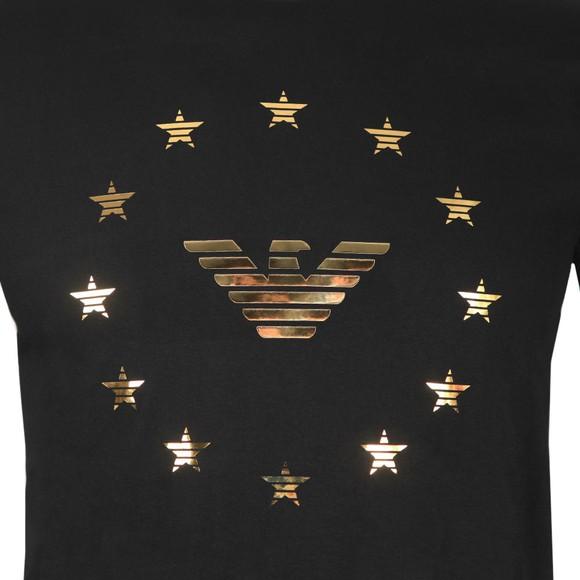 Emporio Armani Mens Black Eagle Circle Logo T Shirt main image