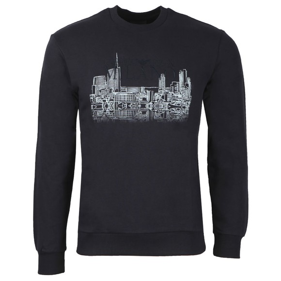 Emporio Armani Mens Blue Skyline Sweatshirt
