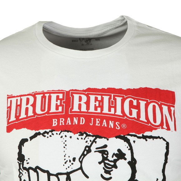 True Religion Mens White Painted Buddha Crew Neck T-Shirt main image