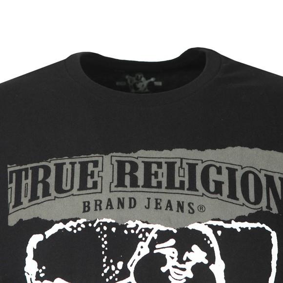 True Religion Mens Black Painted Buddha Crew Neck T-Shirt main image