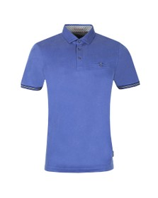 Ted Baker Mens Blue Earbus Polynosic Polo
