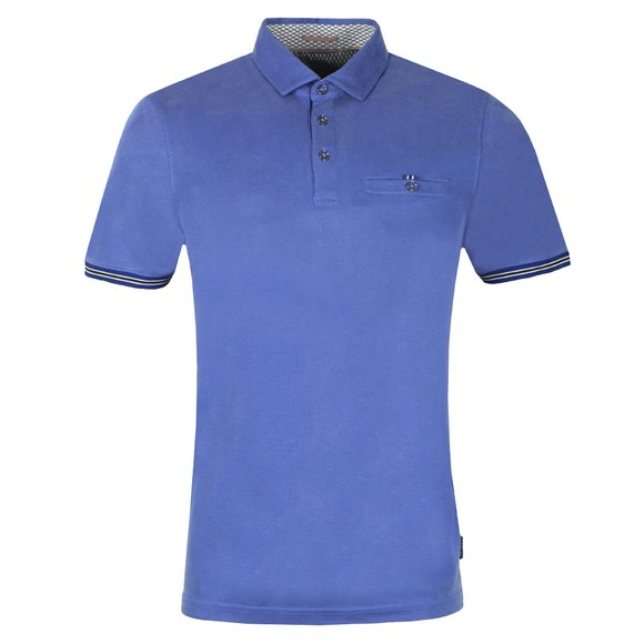 Ted Baker Mens Blue Earbus Polynosic Polo Shirt main image