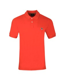 PS Paul Smith Mens Orange Zebra Polo Shirt