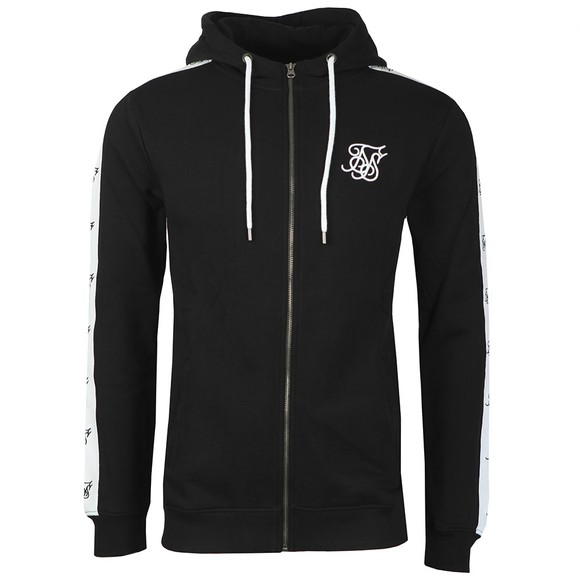 Sik Silk Mens Black Inset Zip Through Hoodie main image