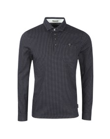 Ted Baker Mens Blue Outof LS Jacquard Polo