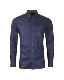 Ted Baker Mens Blue Bonjour Check Shirt