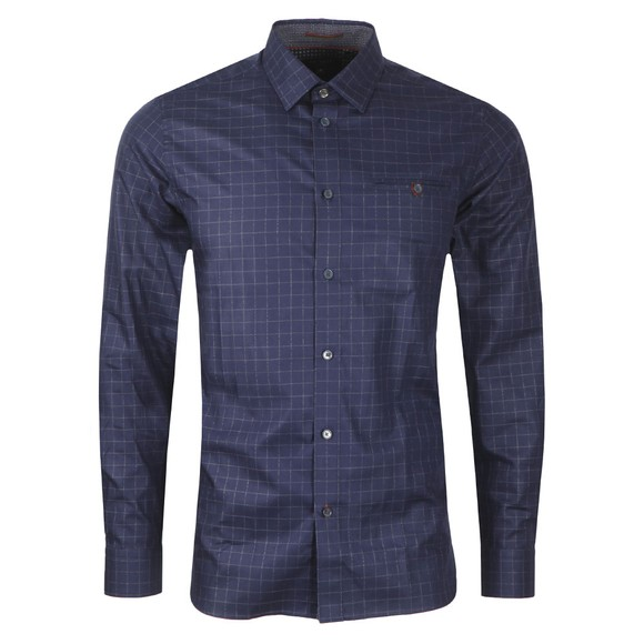 Ted Baker Mens Blue Bonjour Check Shirt