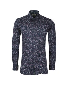 Ted Baker Mens Red Crownrd Feather Print Endurance Shirt
