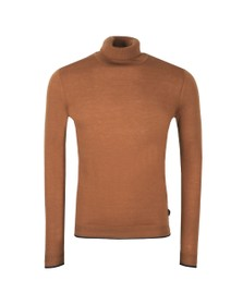 Ted Baker Mens Brown Newtrik Fine Gauge Roll Neck Jumper