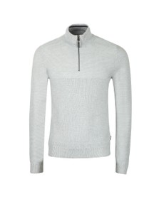 Ted Baker Mens Grey Newport Half Zip Funnel Neck Jumper