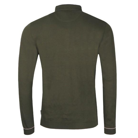 Ted Baker Mens Green Terned LS Polo Shirt main image
