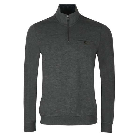 Ted Baker Mens Grey Muggie Half Zip Sweat main image