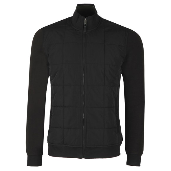Ted Baker Mens Black Pasport Quilted Funnel Neck