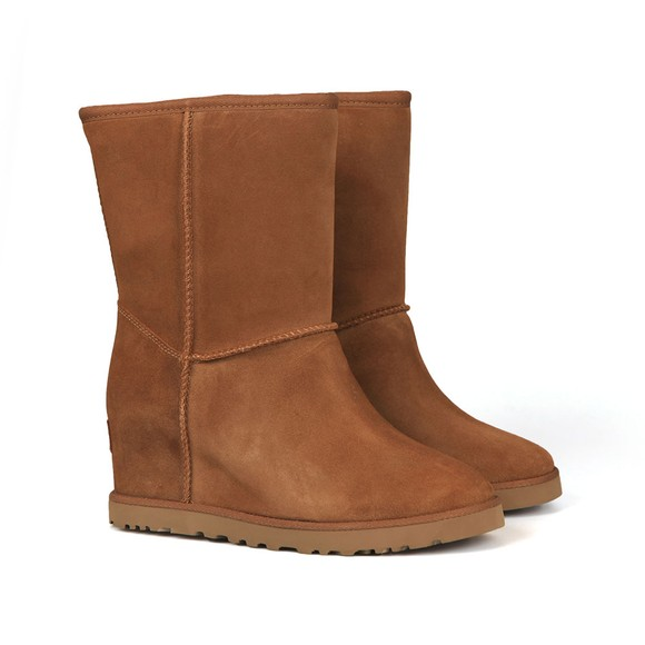 Ugg Womens Brown Classic Femme Short Boot