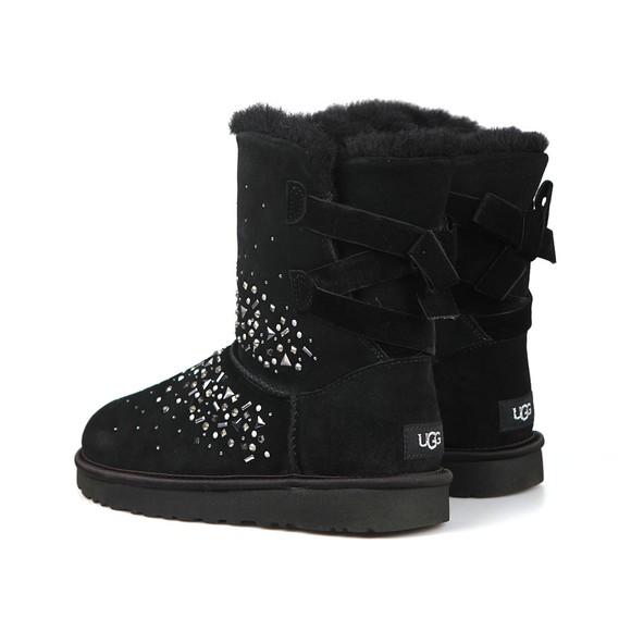 Ugg Womens Black Classic Galaxy Bling Short Boot main image