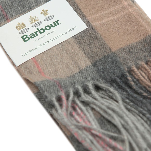 Barbour Lifestyle Womens Beige Tartan Scarf main image