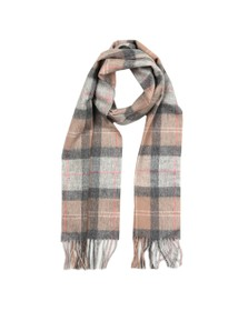 Barbour Lifestyle Womens Beige Tartan Scarf