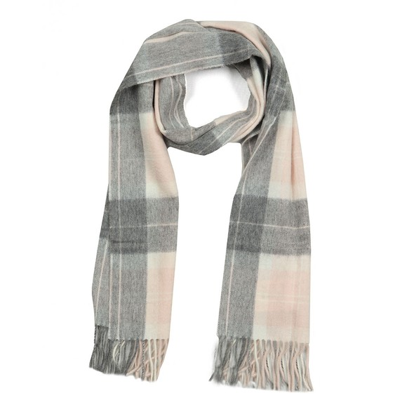 Barbour Lifestyle Womens Pink Tartan Scarf