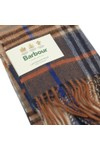 Barbour Lifestyle Mens Brown Dunrobin Check Scarf