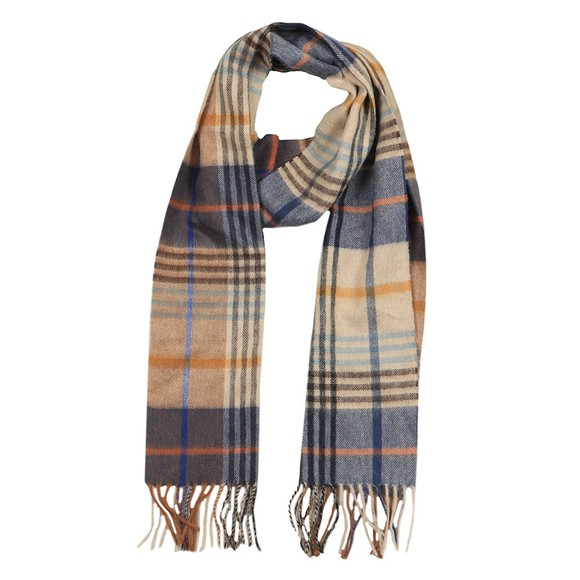 Barbour Lifestyle Mens Brown Dunrobin Check Scarf main image