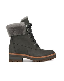 Timberland Womens Grey Courmayeur Valley Shearling Boot