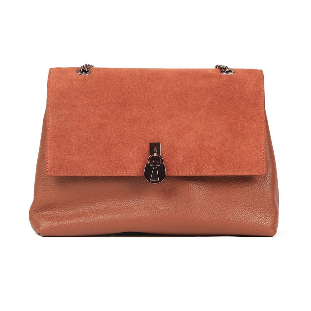 Hermiaa Suede Padlock Shoulder Bag