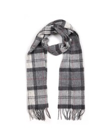 Barbour Lifestyle Womens Grey Tartan Scarf